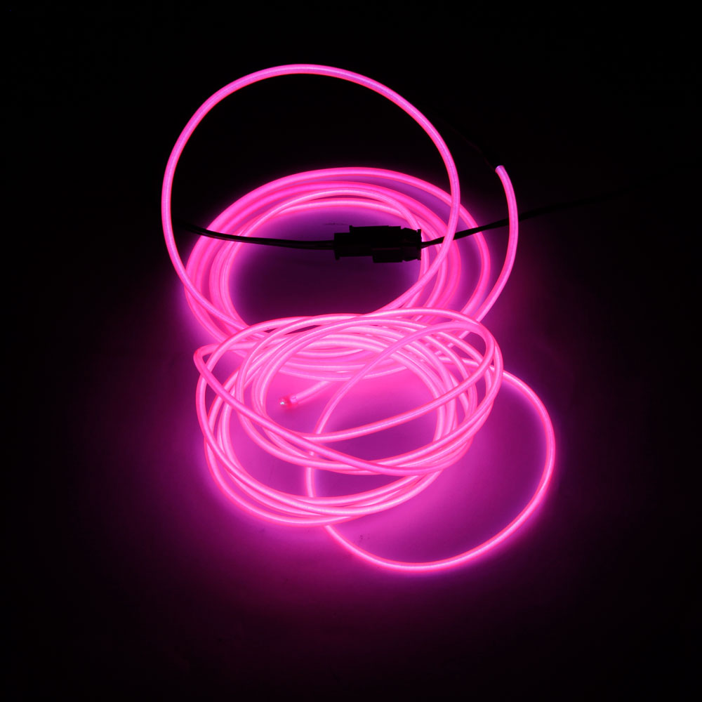 Pink Led Strip Light: LED Flexible Lamp 3m 2-3mm Steel Wire Rope LED Strip With