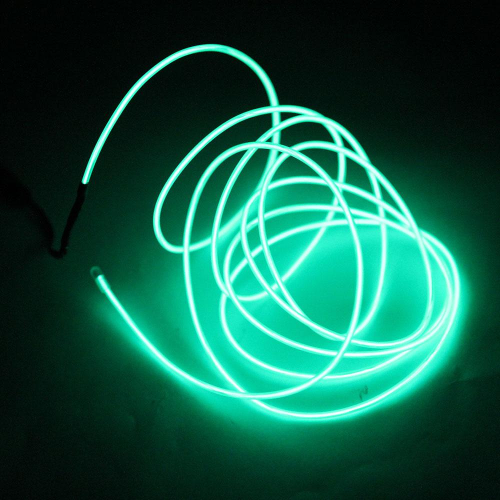 led lampe 3m 2 3mm steel wire rope led streifen mit controller gr n. Black Bedroom Furniture Sets. Home Design Ideas