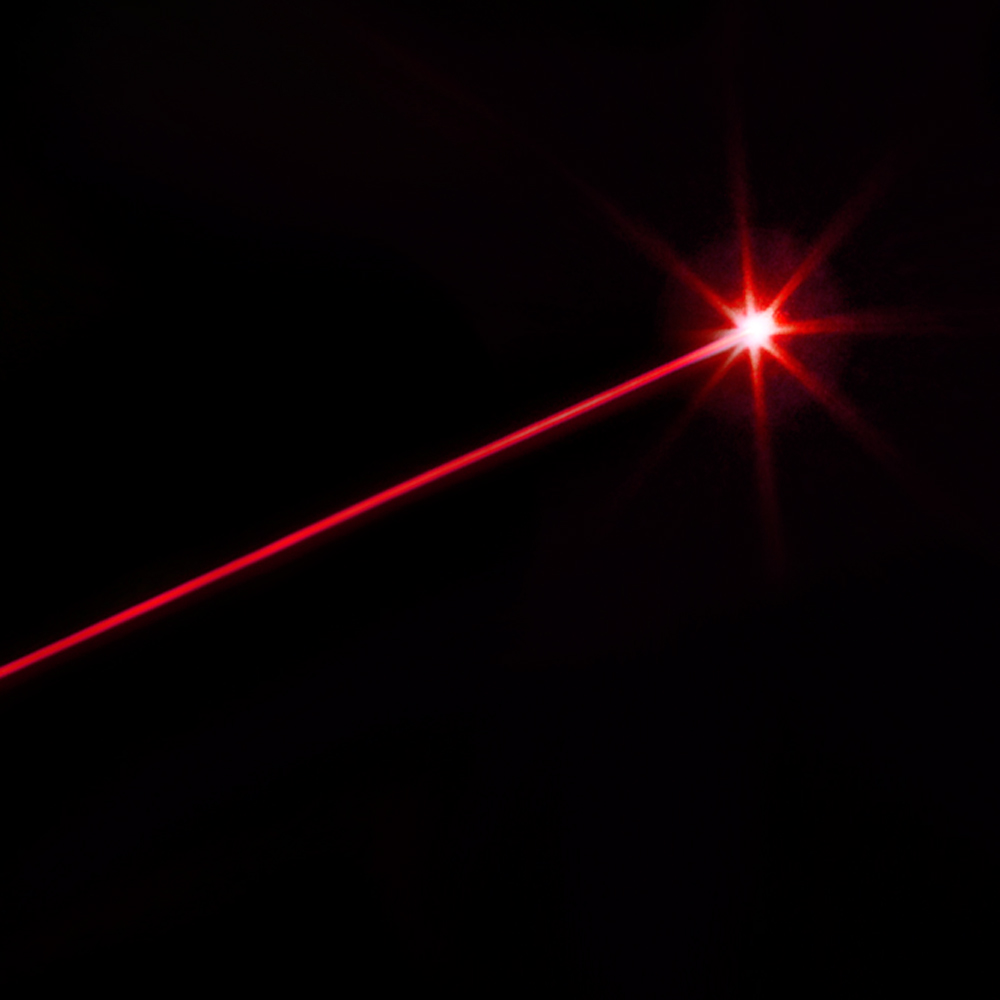 5MW Beam Light Red Laser Pointer and LED Light Black LT ...