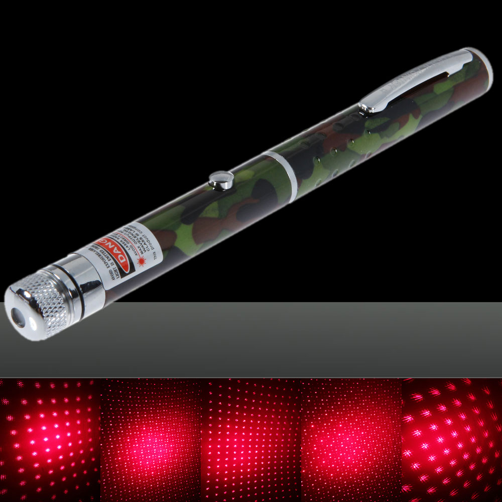 100mW Middle Open Starry Pattern Red Light Naked Laser Pointer Pen Camouflage Color