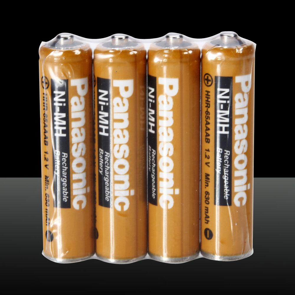 4pcs Original Panasonic 630mAh AAA Ni-MH Rechargeable Batteries Set Orange