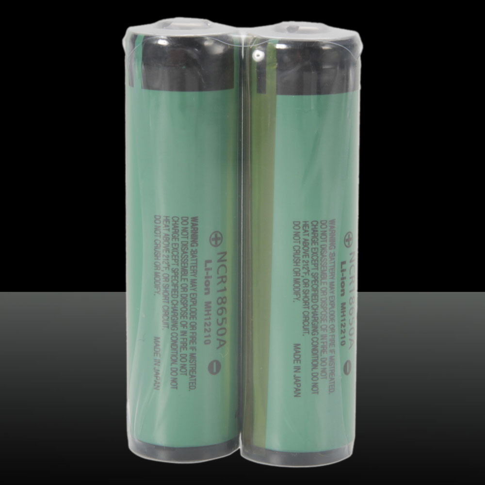 2pcs Panasonic 18650 3.7V 3100mAh Rechargeable Lithium Batteries with Protective Plate Green