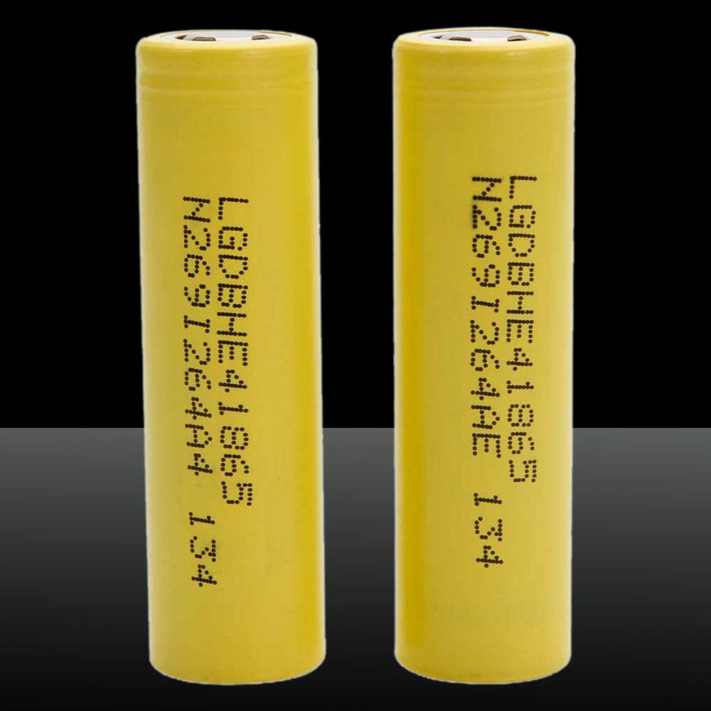 2pcs 3.7V 2500mAh HE4/35A LG High Power 18650 Lithium Battery