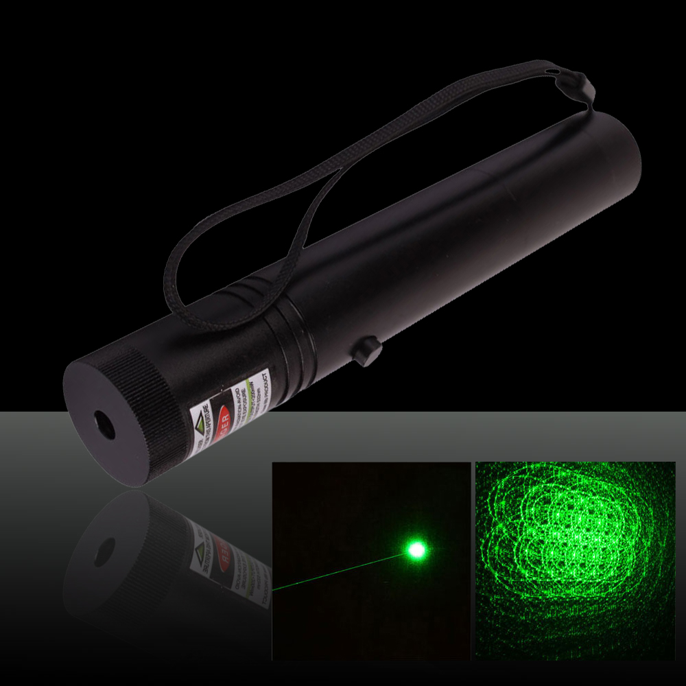 250mW 532nm Flashlight Style 302 Type Green Laser Pointer Pen with 18650 Battery