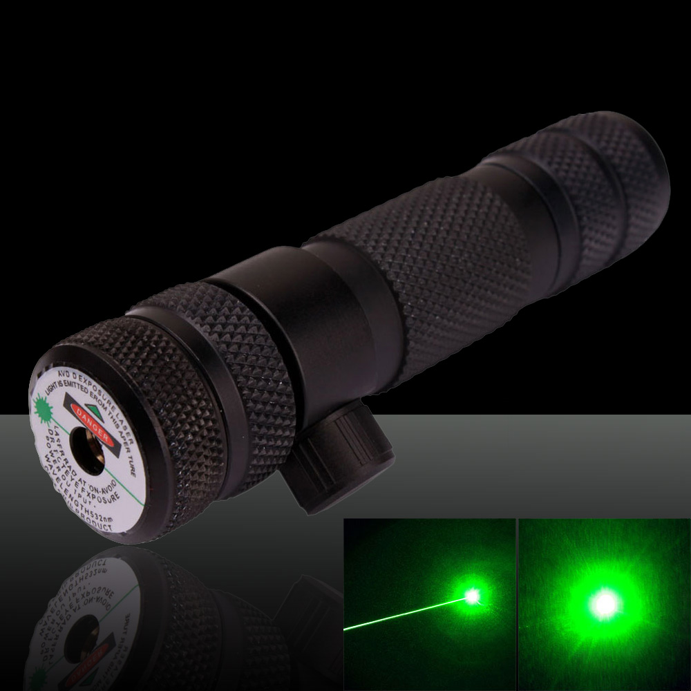 100mW 532nm Hat-shape Green Laser Sight with Gun Mount Black (with one 16340 battery)