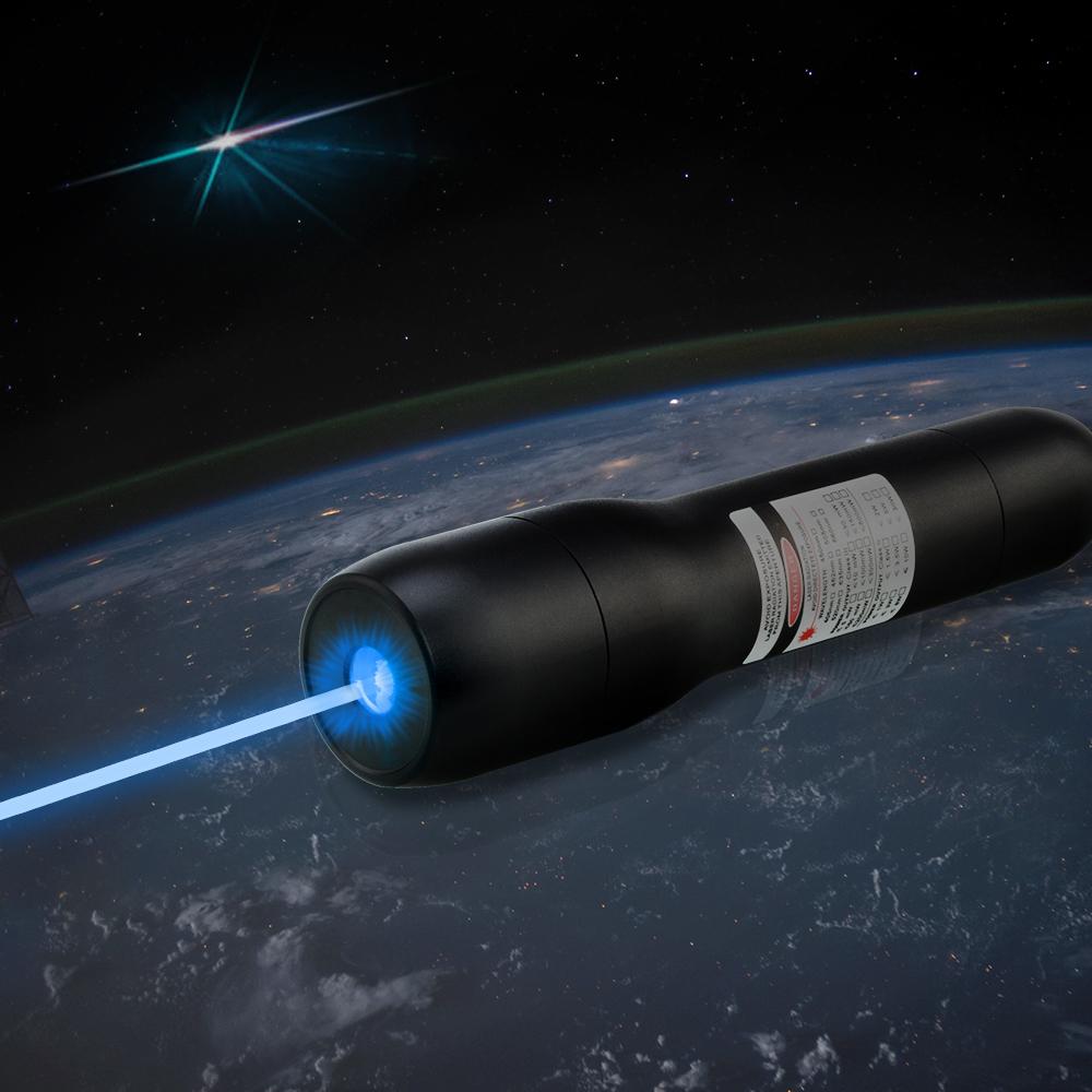 QK-DS6 10000mw 450nm Waterproof Blue Burning Laser Pointer 5 Meters Underwater