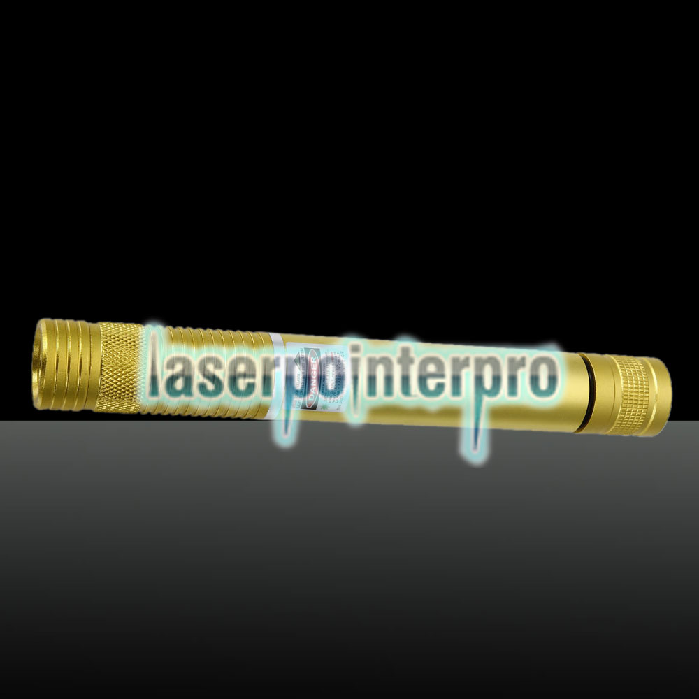 500 MW Beam Green Laserpointer (1 x 4000 mAh) Golden