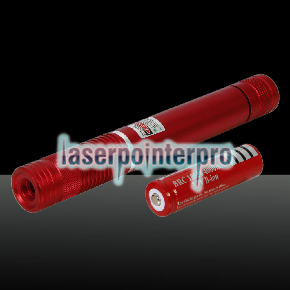 500MW Beam Green Laser Pointer (1 x 4000mAh) Red