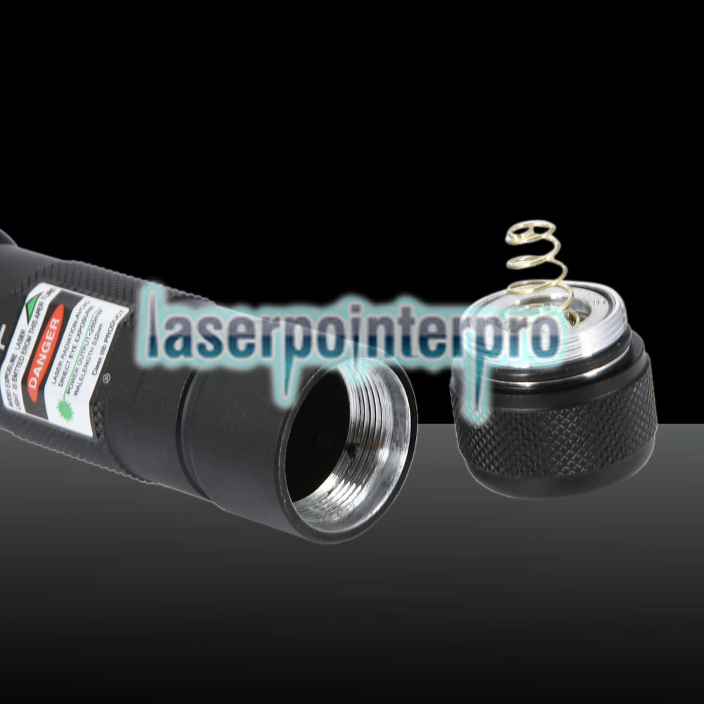 250mW 532nm Green Beam Light Puntero láser Negro 502B