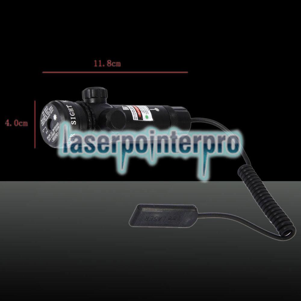 250mW Feixe Verde Light Flat Head Laser Gun Sighter Preto