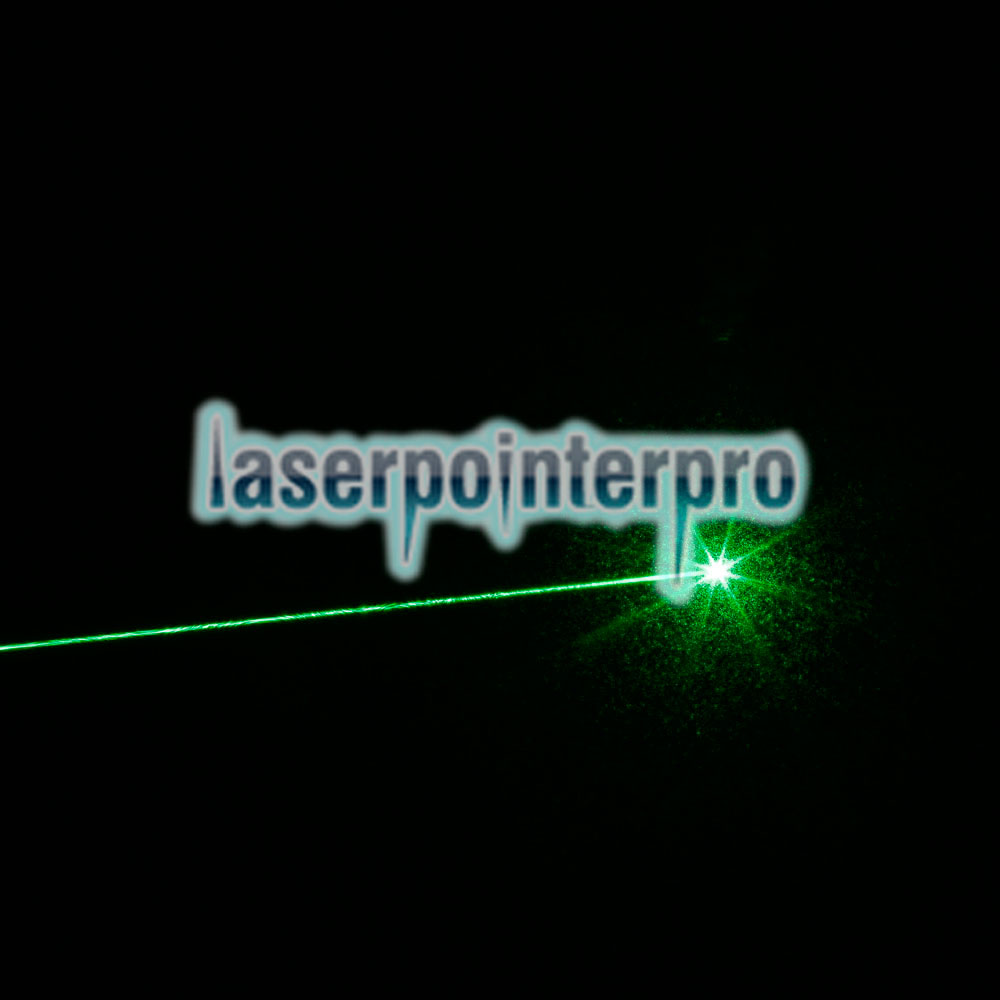 200mW 532nm Green Beam Light Single-point Laser Pointer Pen Silver