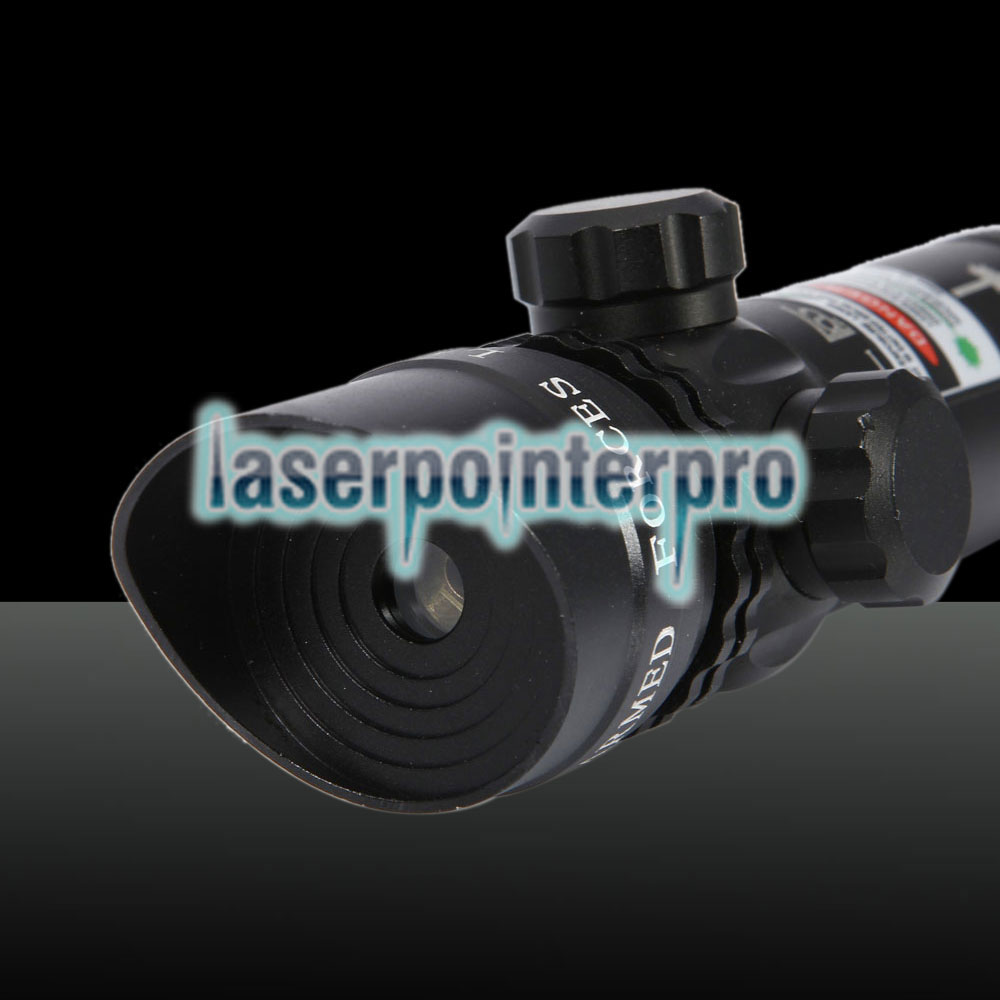 Pistola laser con testa inclinata a luce verde da 250mW 522-542nm Green Sighter Black