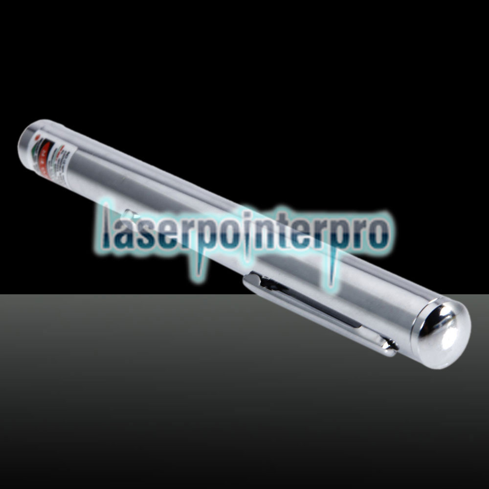 230mW 532nm Green Beam Light Laser Pointer Pen Silver