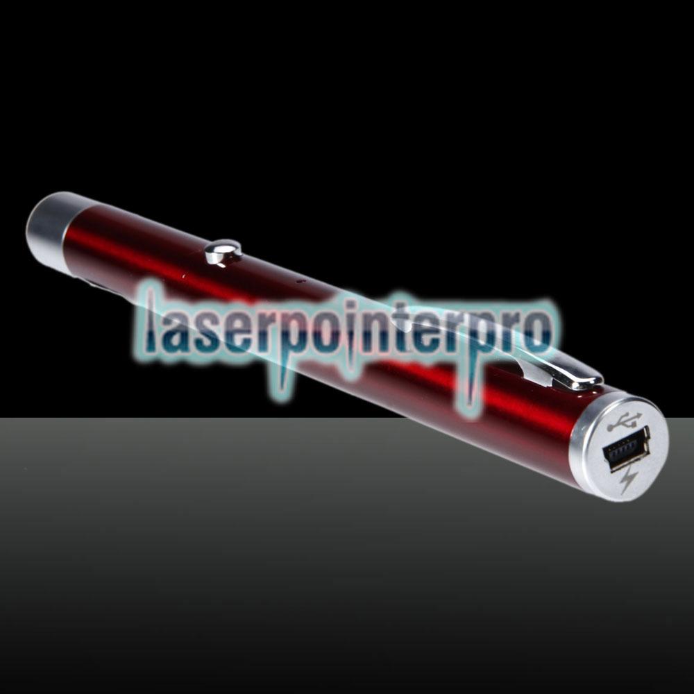 50mW 532nm feixe verde single-point usb cobrando a caneta ponteiro laser vermelho