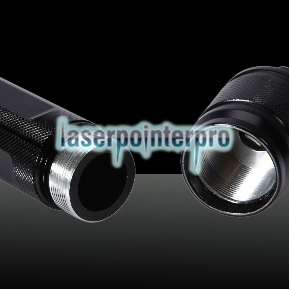 5000mW 450nm 5-en-1 Blue Beam Light Puntero láser Pluma Kit Negro