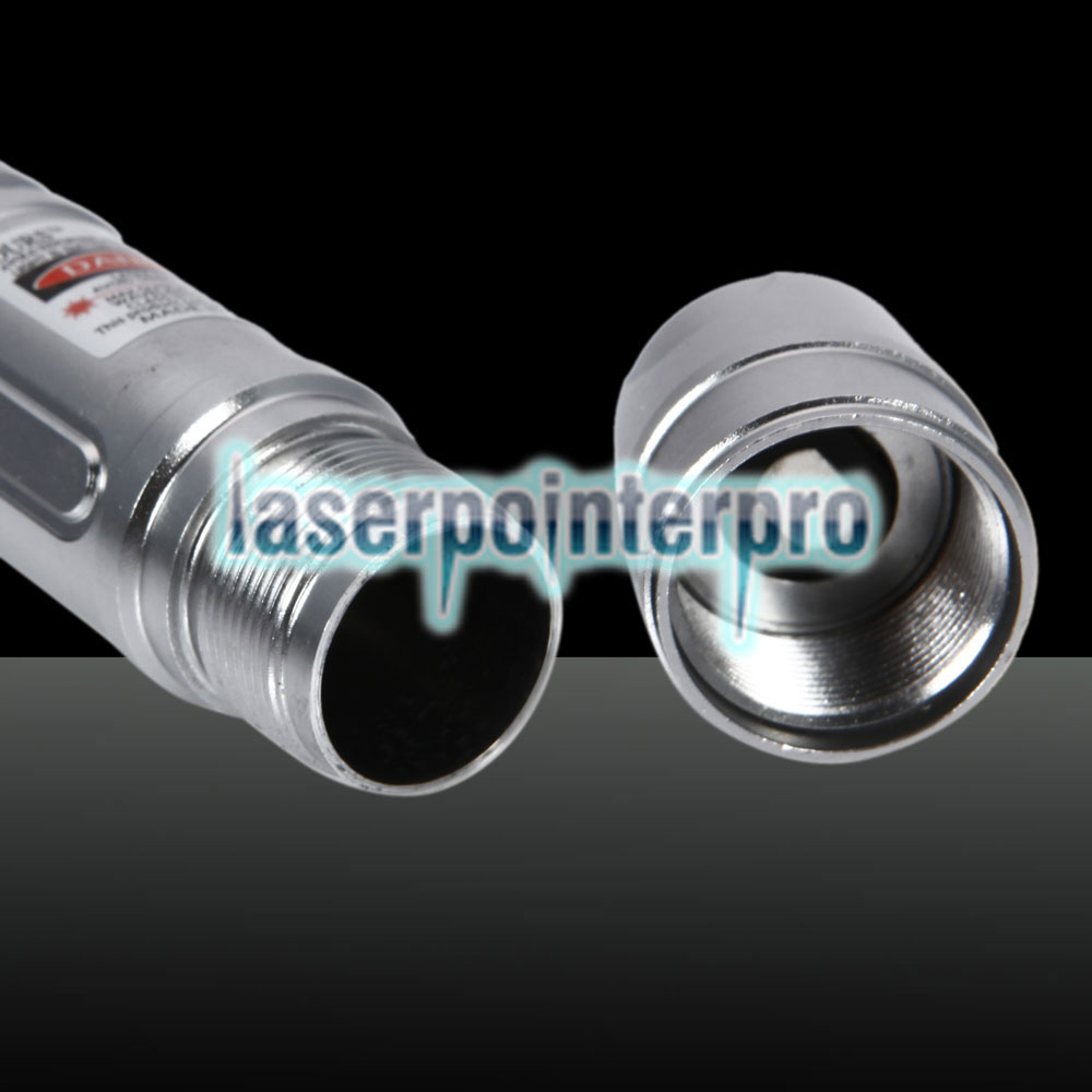 300mW 650nm Red Beam Light Laser Torch Silver