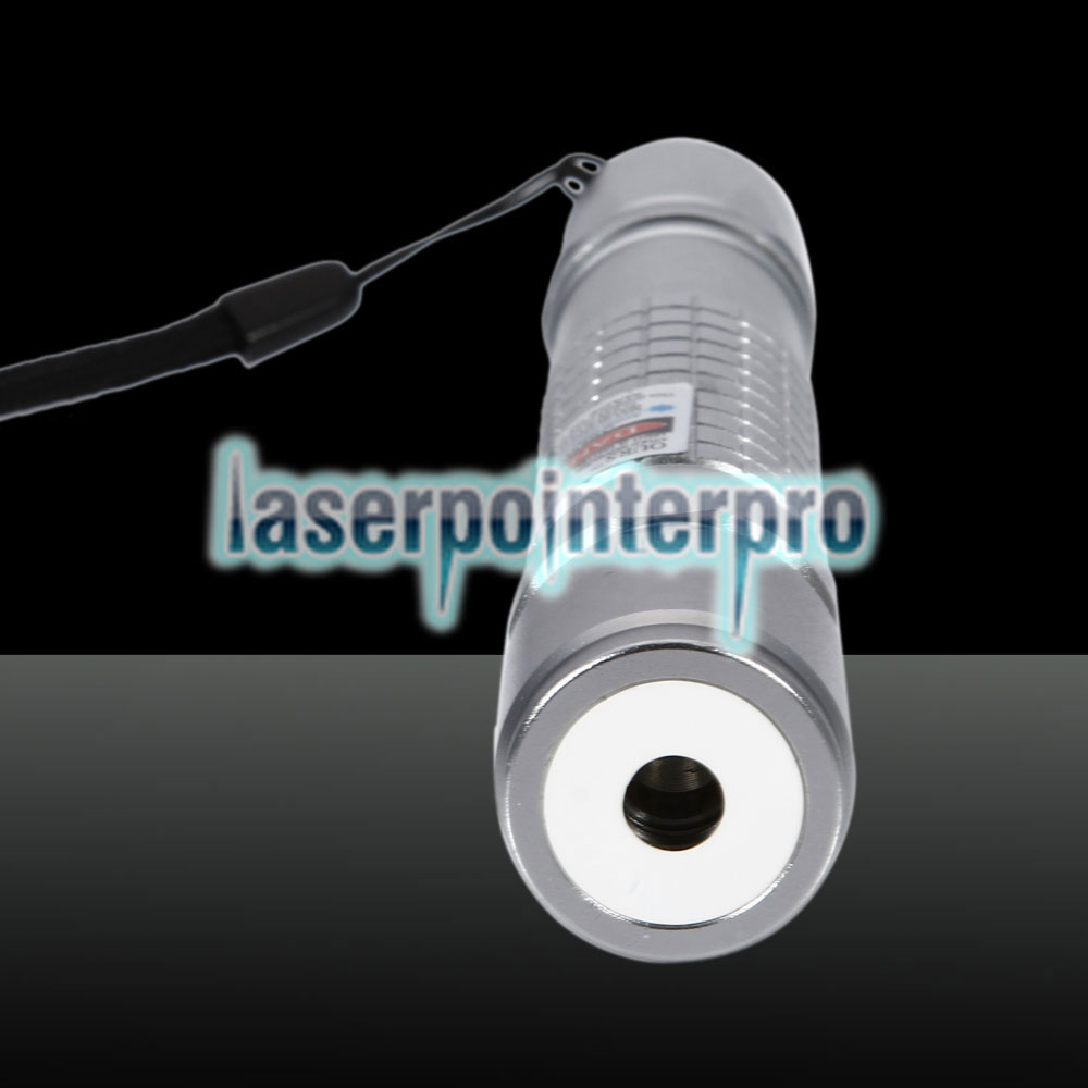 300mW Purple Beam Light Check Pattern Laser Torch Silver