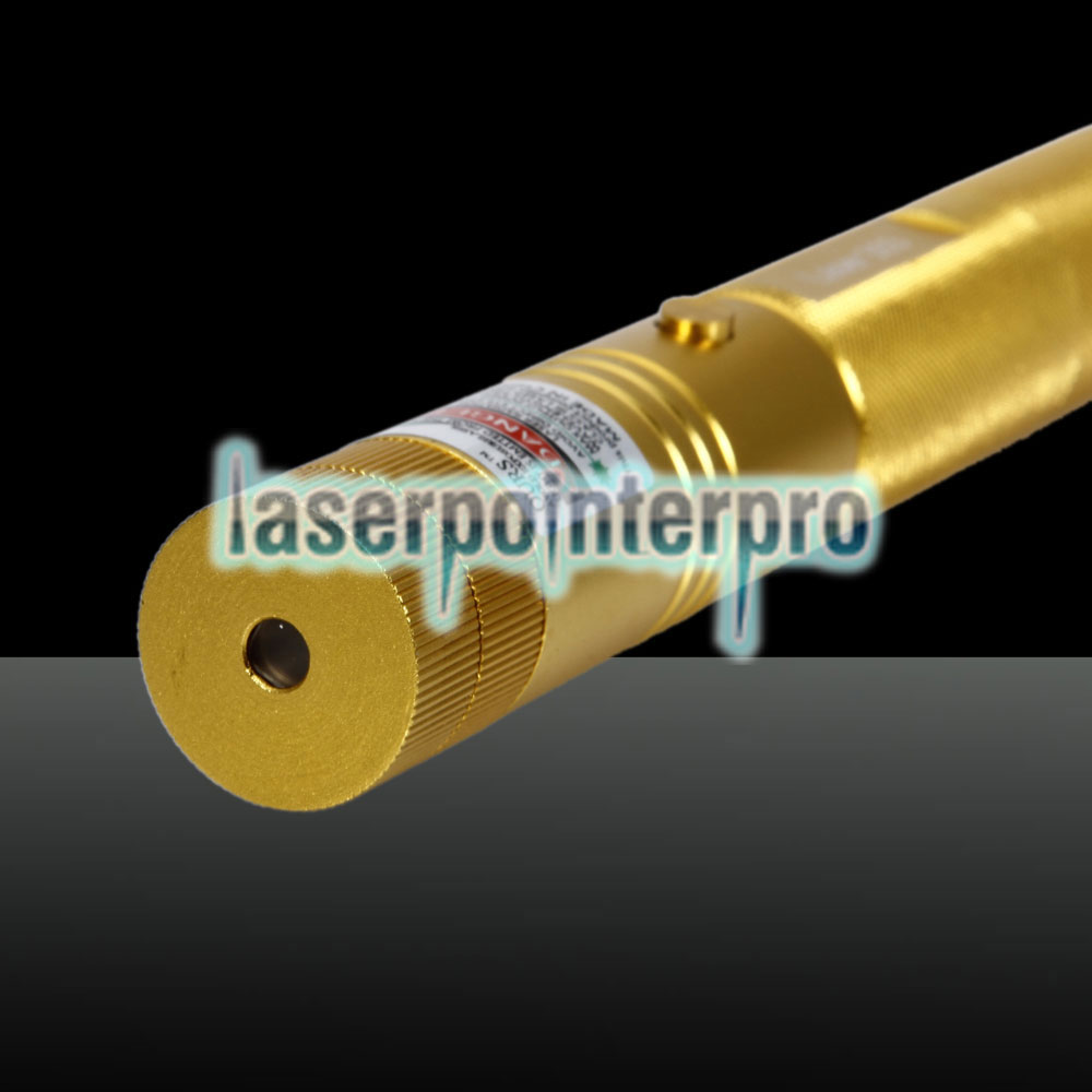 300mw Green Beam Light Laser Pointer Torch Golden