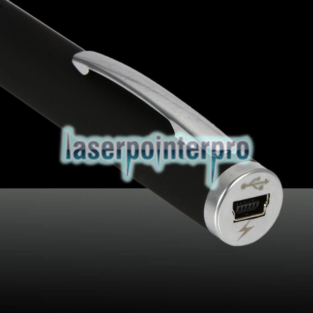 1mW 532nm Penna puntatore laser ricaricabile a singolo raggio con luce verde a raggio nero