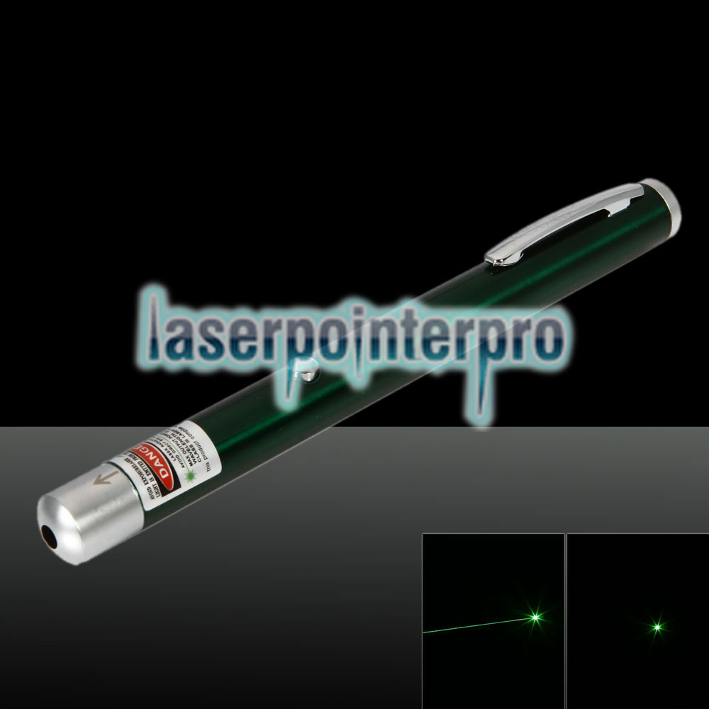 5mW 532nm Green Beam Light stylo pointeur laser rechargeable à point unique vert