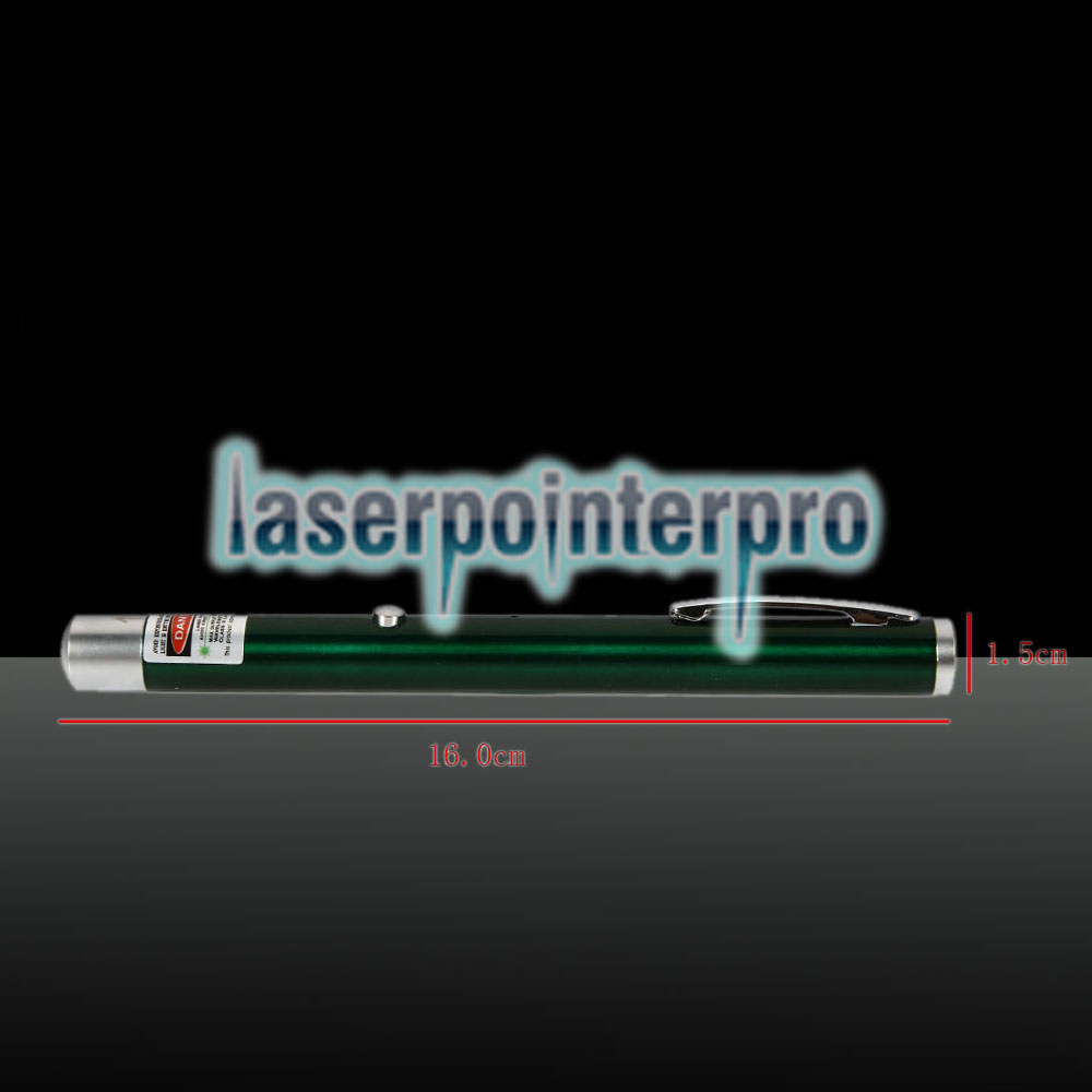 5mW 532nm feixe de luz ponto único recarregável Laser Pointer Pen Verde