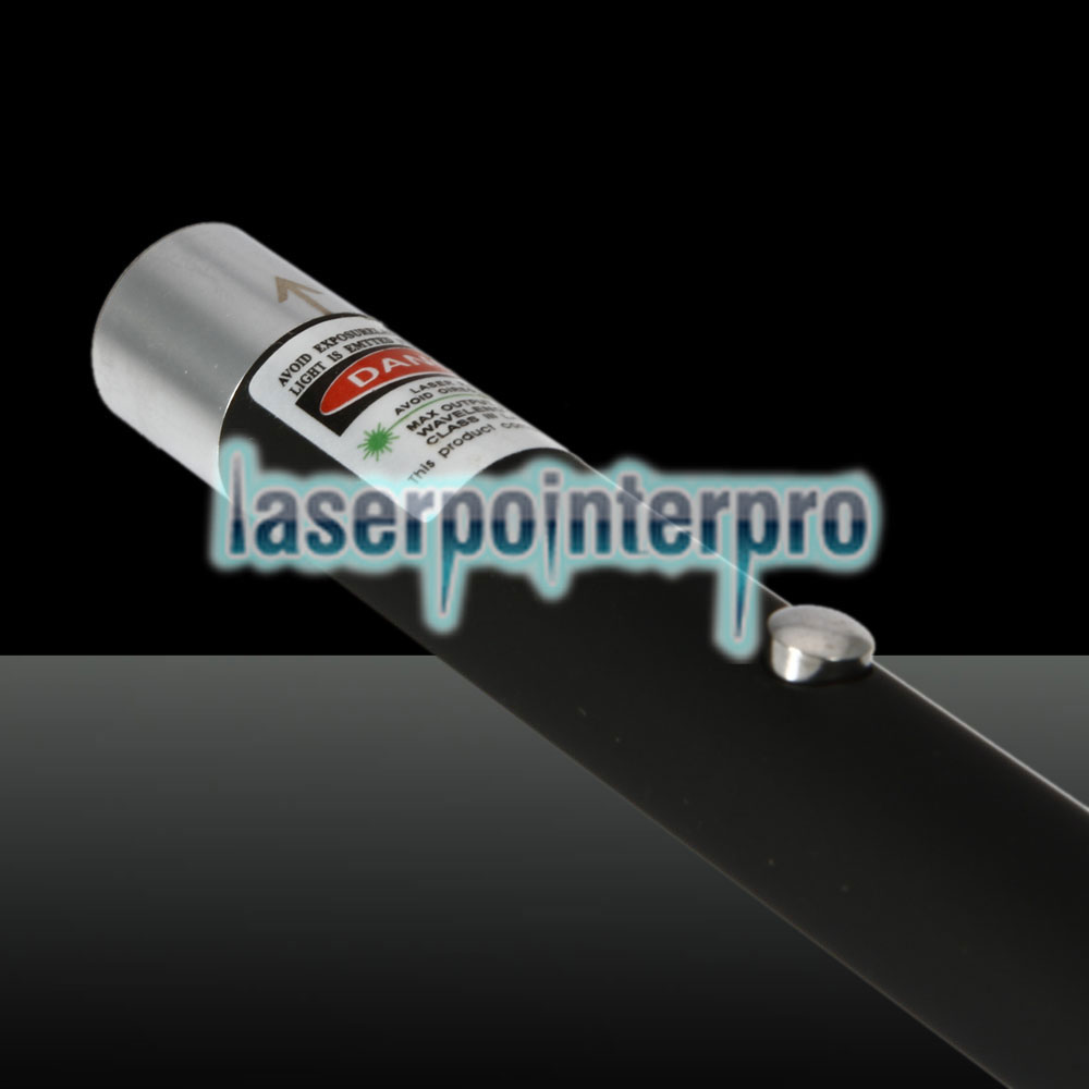 Pointeur laser rechargeable à point unique 5mW 532nm Green Beam Light, noir