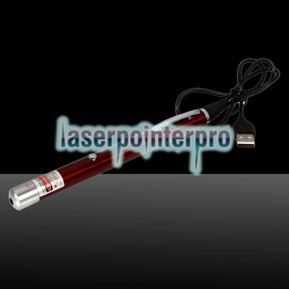Pointeur laser rechargeable en un point, 100mW 650nm Red Beam Light, rouge