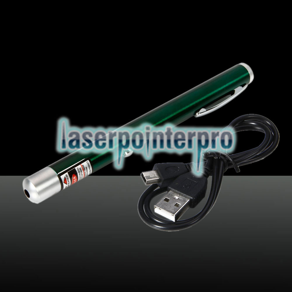 200mW 650nm Red Beam Light Single-point Rechargeable Laser Pointer Pen Green