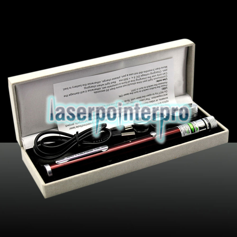 LT-ZS03 400mW 532nm 5-in-1 USB Charging Laser Pointer Pen Red