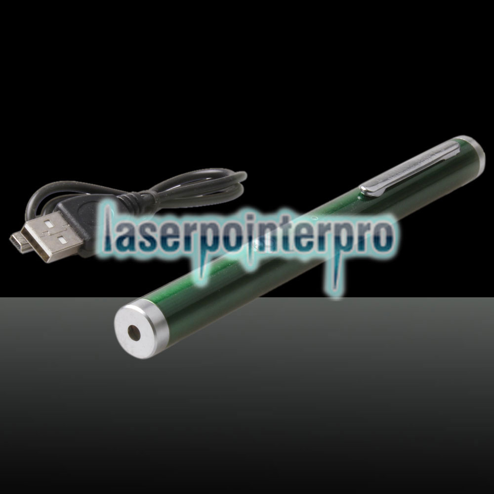 5-in-1 500mW 532nm USB Charging Laser Pointer Pen Green LT-ZS08