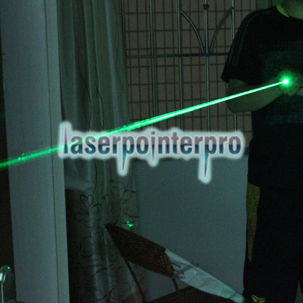 100mW 532nm Green Beam Light Focusable puntero láser pluma Kit de oro