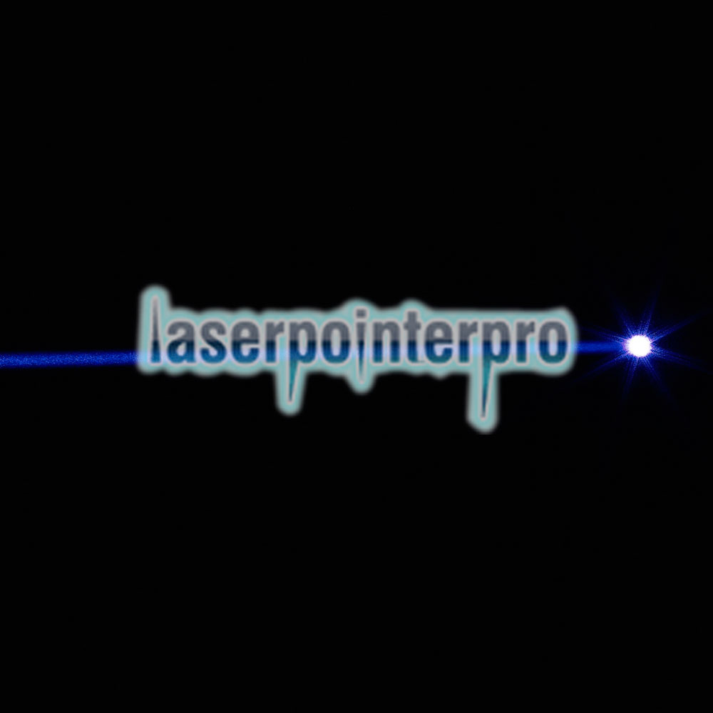 2000mW 450nm Un solo punto Blue Beam Light Laser Pointer Pen Negro
