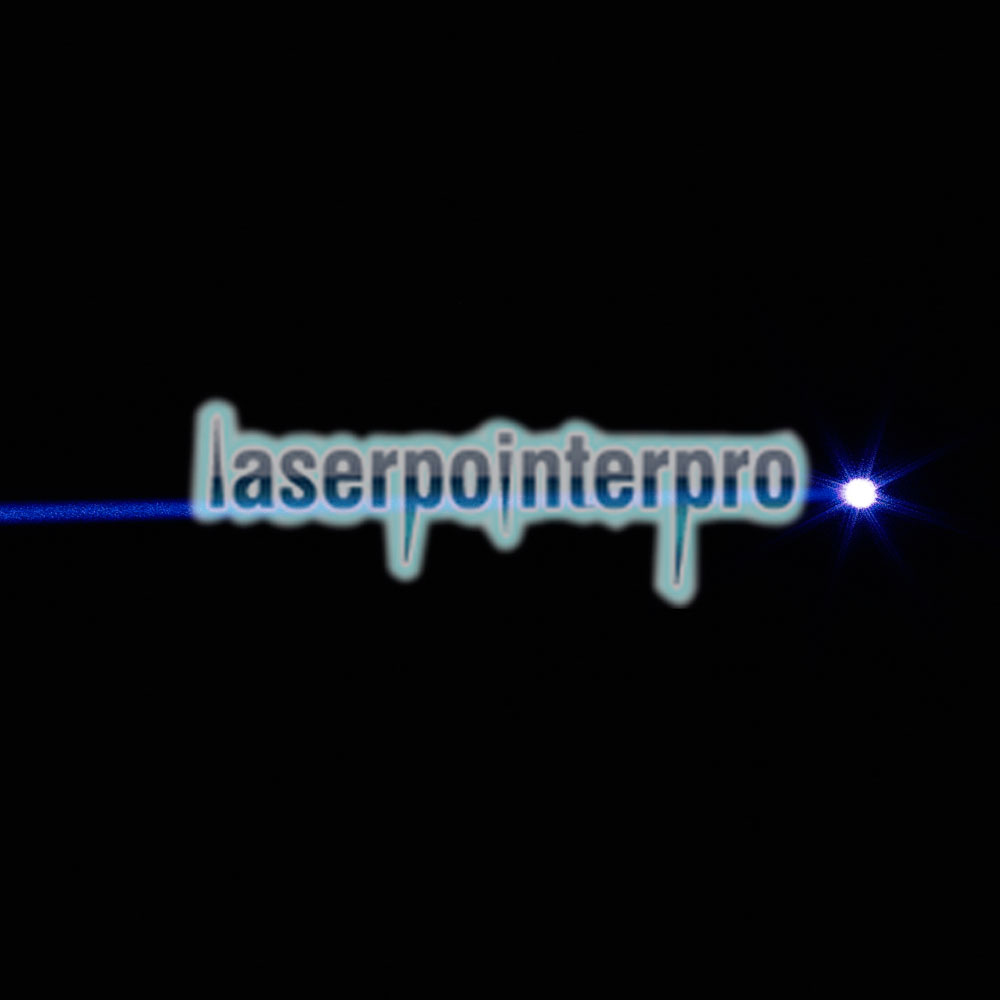 2000mw Burning 450nm Skidproof Blue Laser Beam Laser Pointer Pen Silver