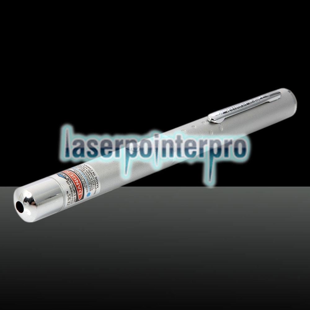 405nm 1mw Blauer und violetter Laserstrahl Einpunkt-Laserpointer Silber