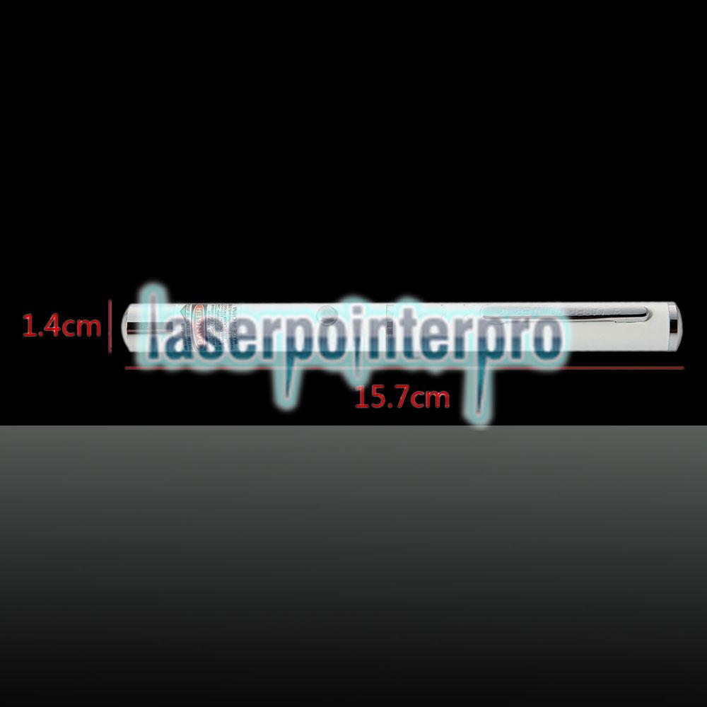 532nm 1mw Green Laser Beam Single-point Laser Pointer Pen White