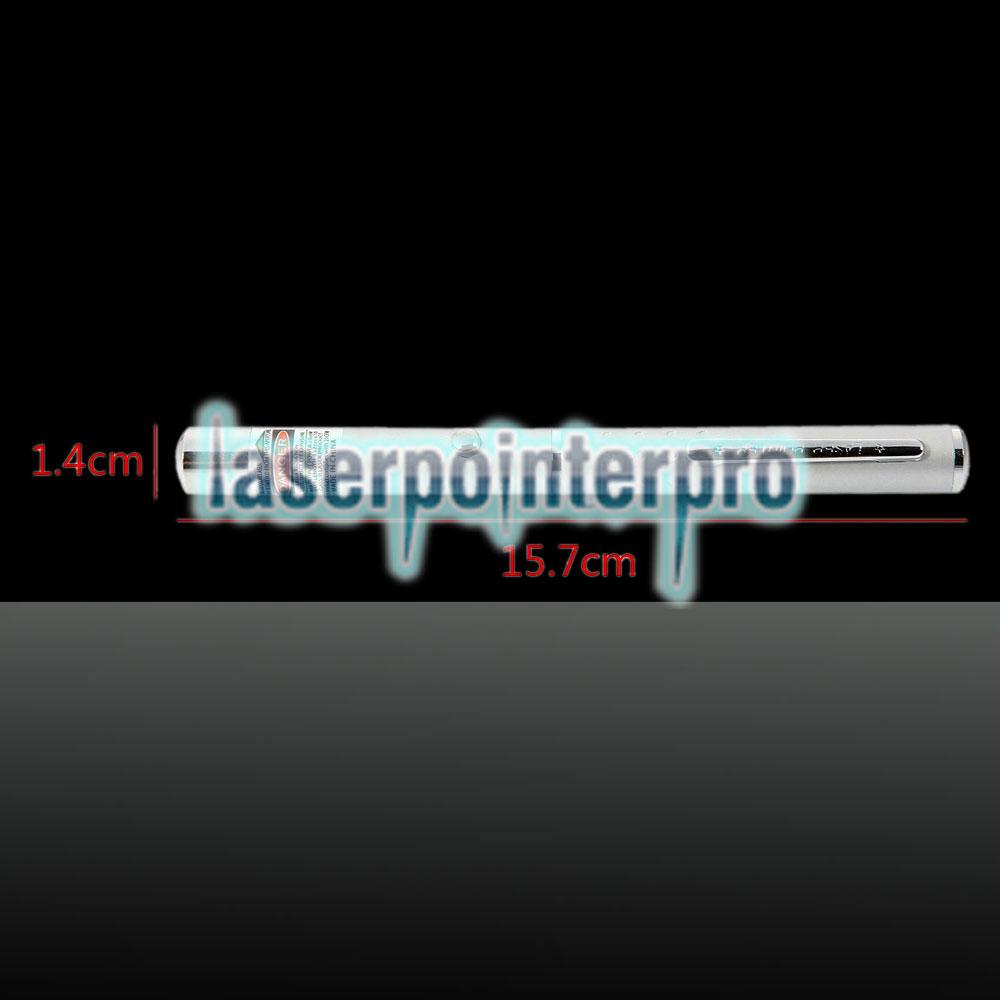 532nm 1mw grüner Laserstrahl Einpunkt-Laserpointer Silber