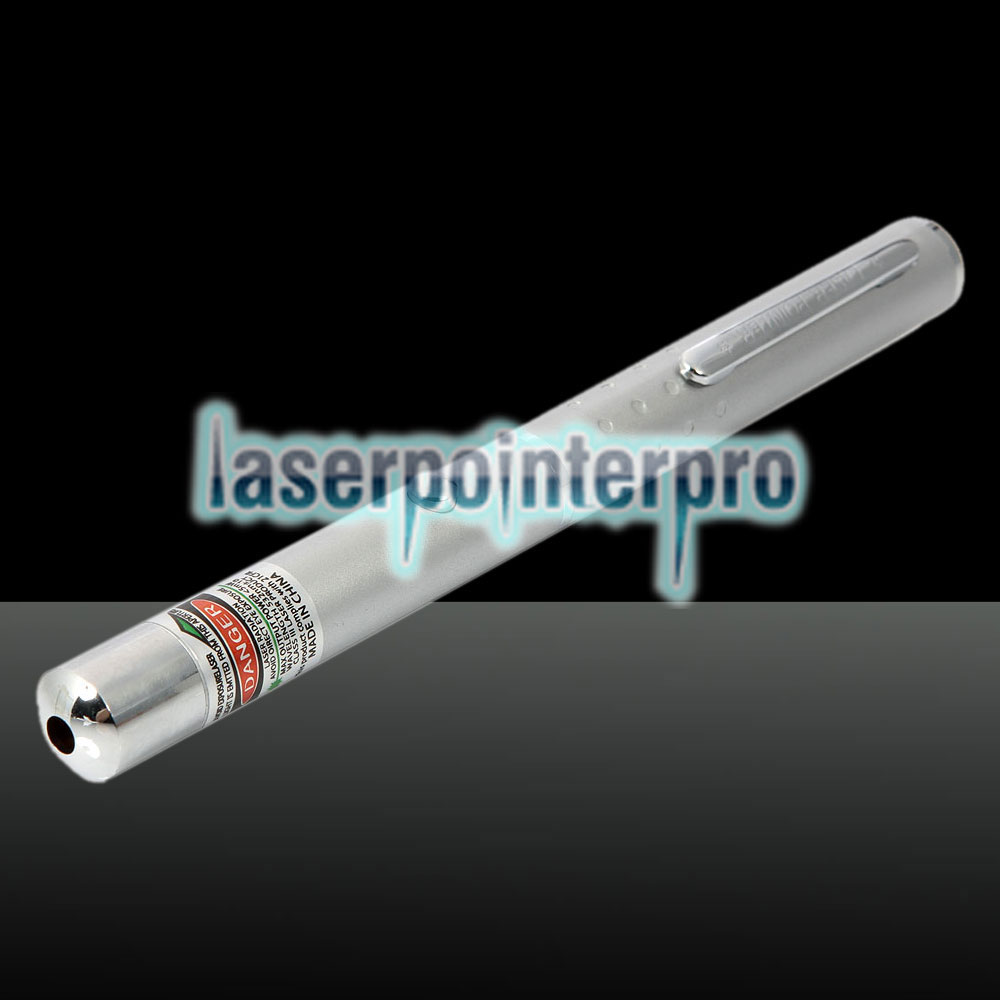 532nm 1mw Green Laser Beam Single-point Laser Pointer Pen Silver