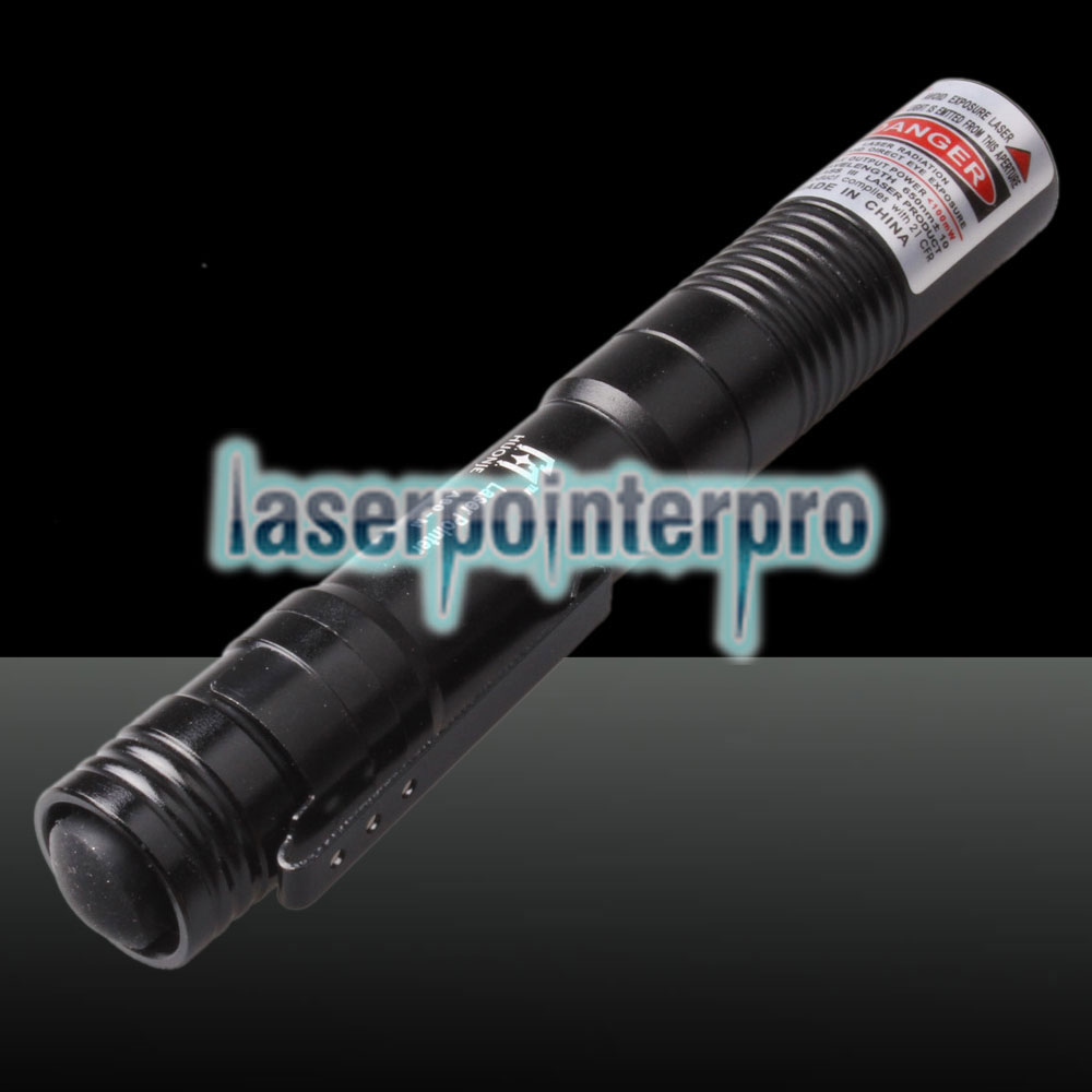500mw 650nm Red Laser Beam Mini puntatore laser con batteria nera