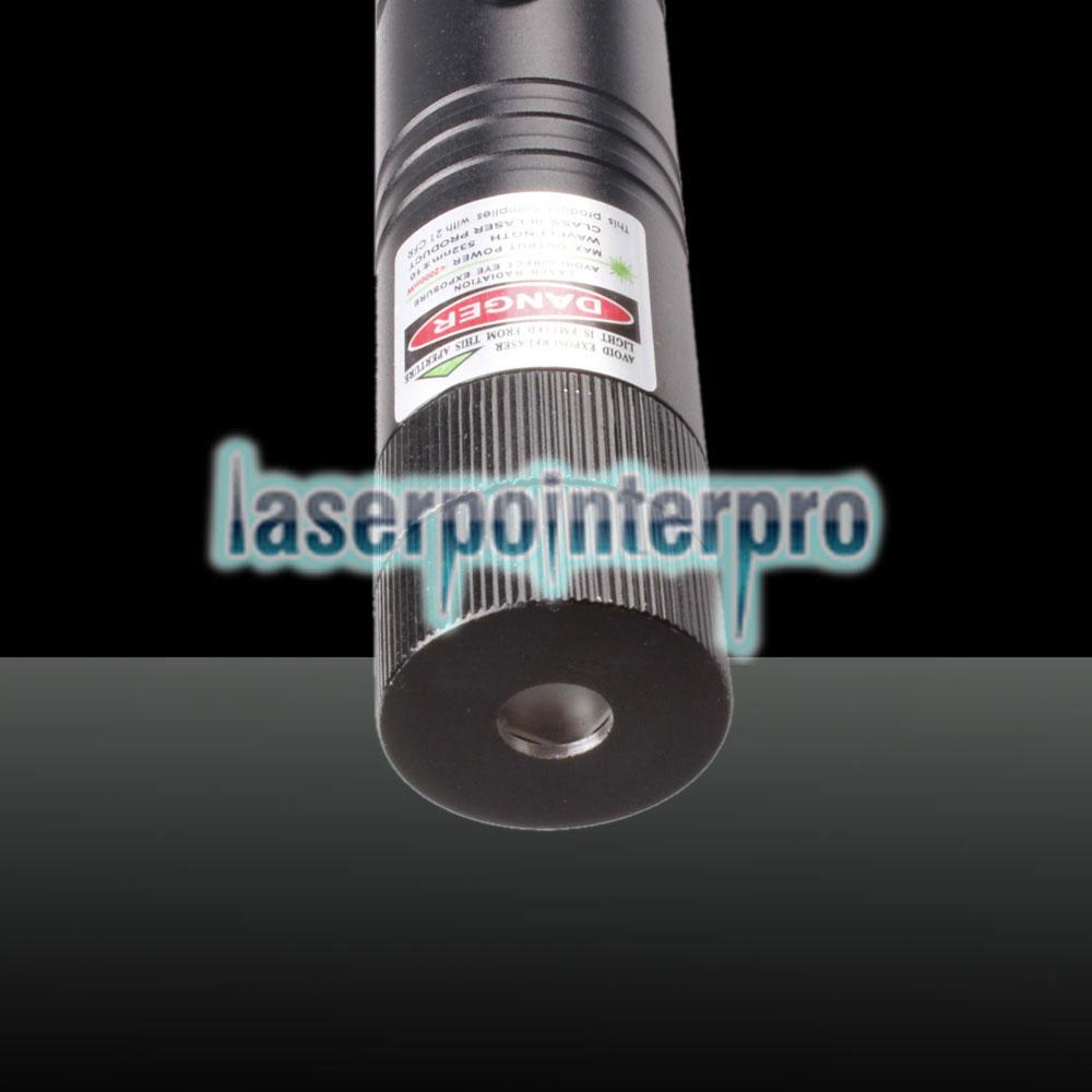 2-en-1 300mw Kit de lápiz puntero láser de luz roja verde de doble color negro