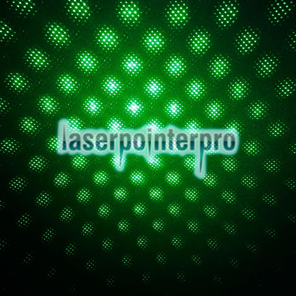 Kit penna puntatore laser a luce rossa verde a due colori 300mw 2 in 1 nero