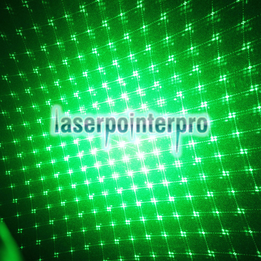 1mw 5 in 1 Green Laser Pointer Kaleidoscopic Laser Pen with Four Laser Heads Black
