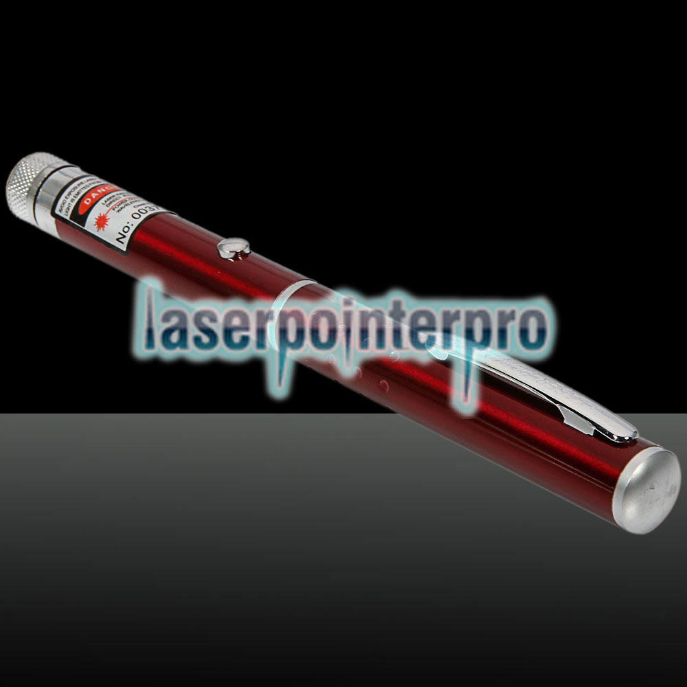 1mW 650nm Red Beam Light Starry Light Style Middle-open Laser Pointer Pen with 5pcs Laser Heads Red