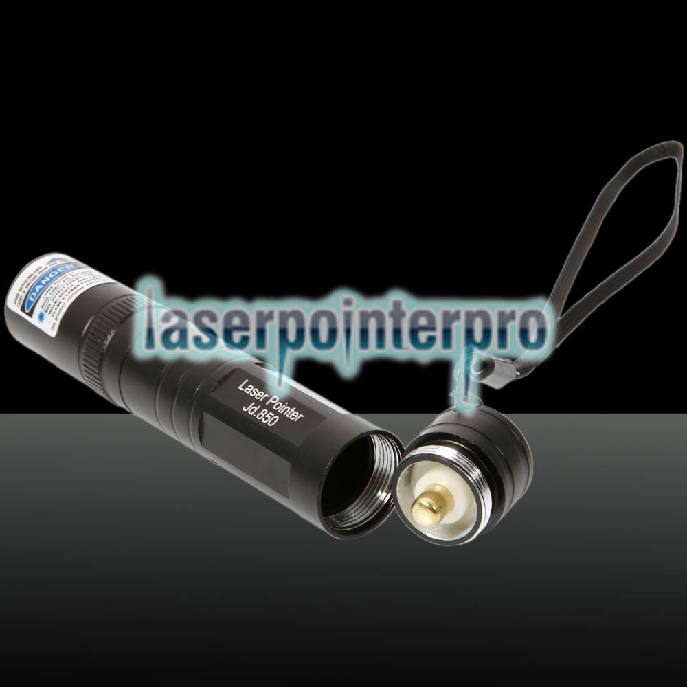 1mW 405nm Blue & Purple Beam Light Tailcap Interruttore penna puntatore laser nero 850