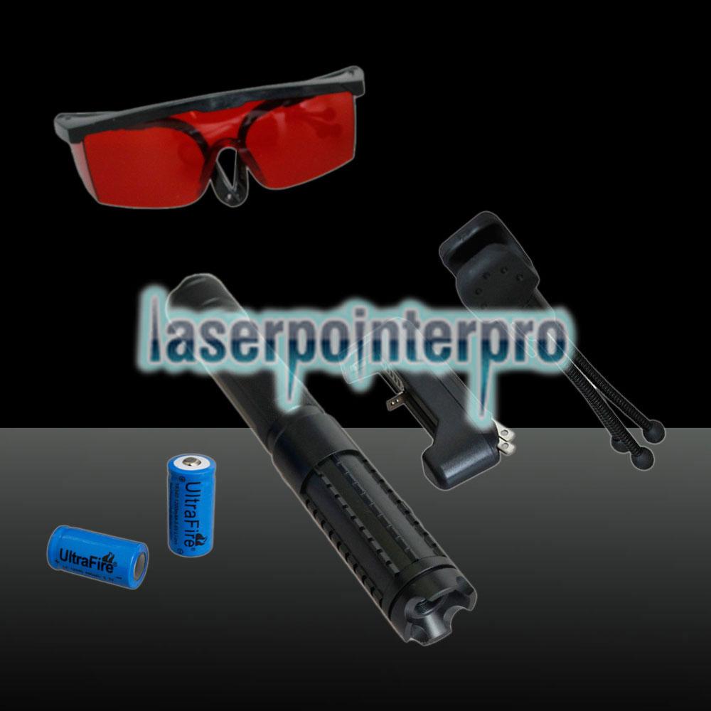 Ensemble de stylos pointeur laser rechargeable multifonctionnel LT-08890LGF 3000mw 450nm Pur Bleu faisceau noir