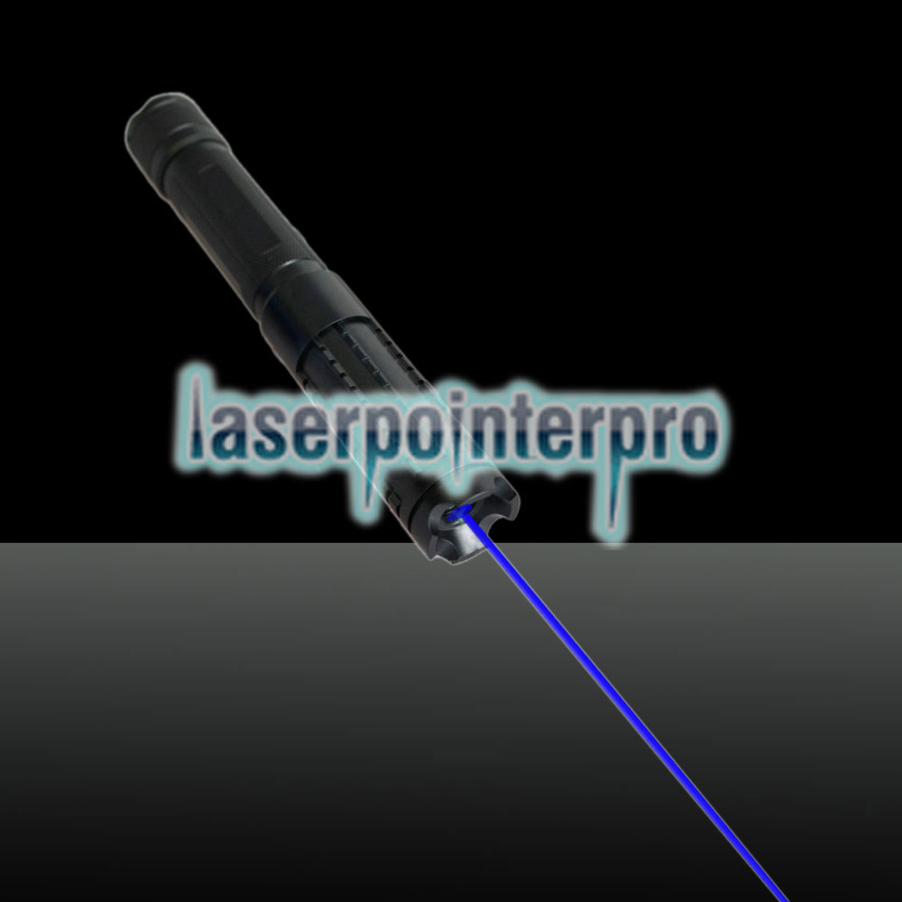LT-08890LGF 3000mw 450nm Pure Blue Beam Light Multifuncional recargable láser Pointer Pen Set Negro