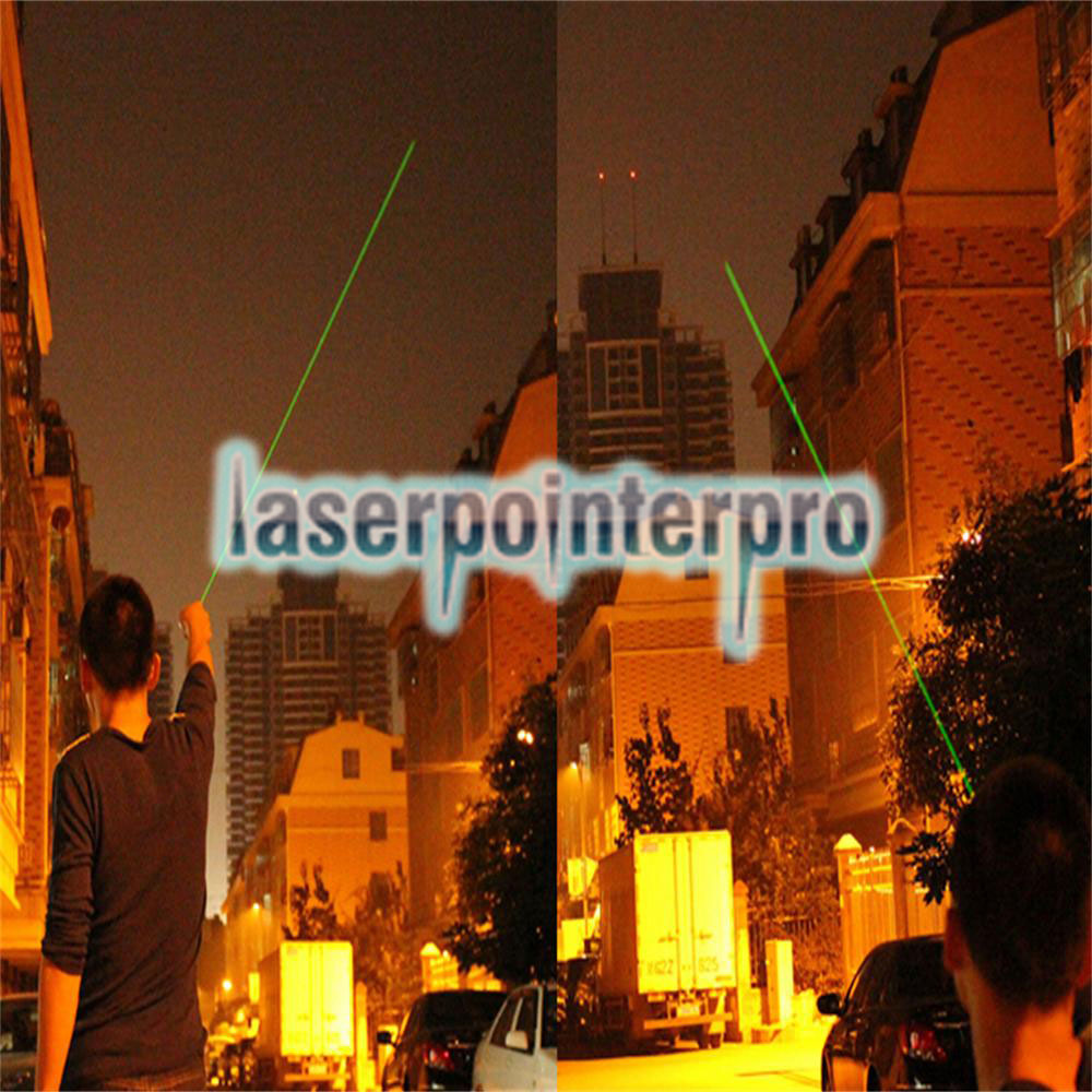 LT-85 100mw 532nm Green Beam Light Noctilucent Estirable Focus ajustable Laser Pointer Pen Negro