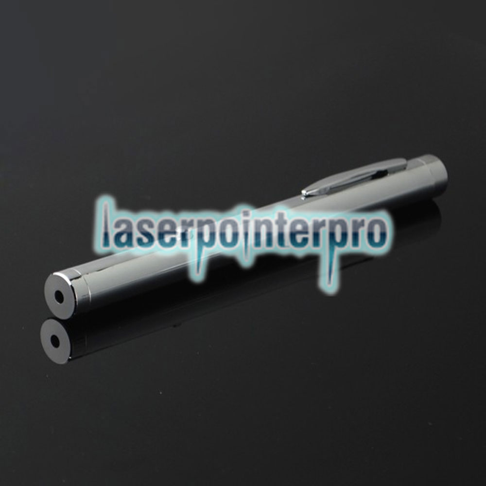 100mw 532nm faisceau de lumière verte unique point de style de lumière tout en acier stylo pointeur laser couleur de métal brillant