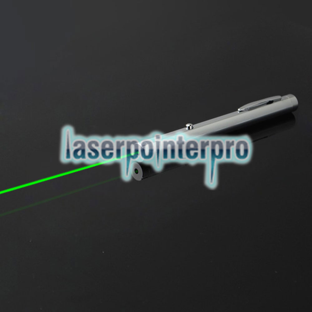 50mw 532nm Green Beam Light Single-point Light Style All-steel Laser Pointer Pen Bright Metal Color