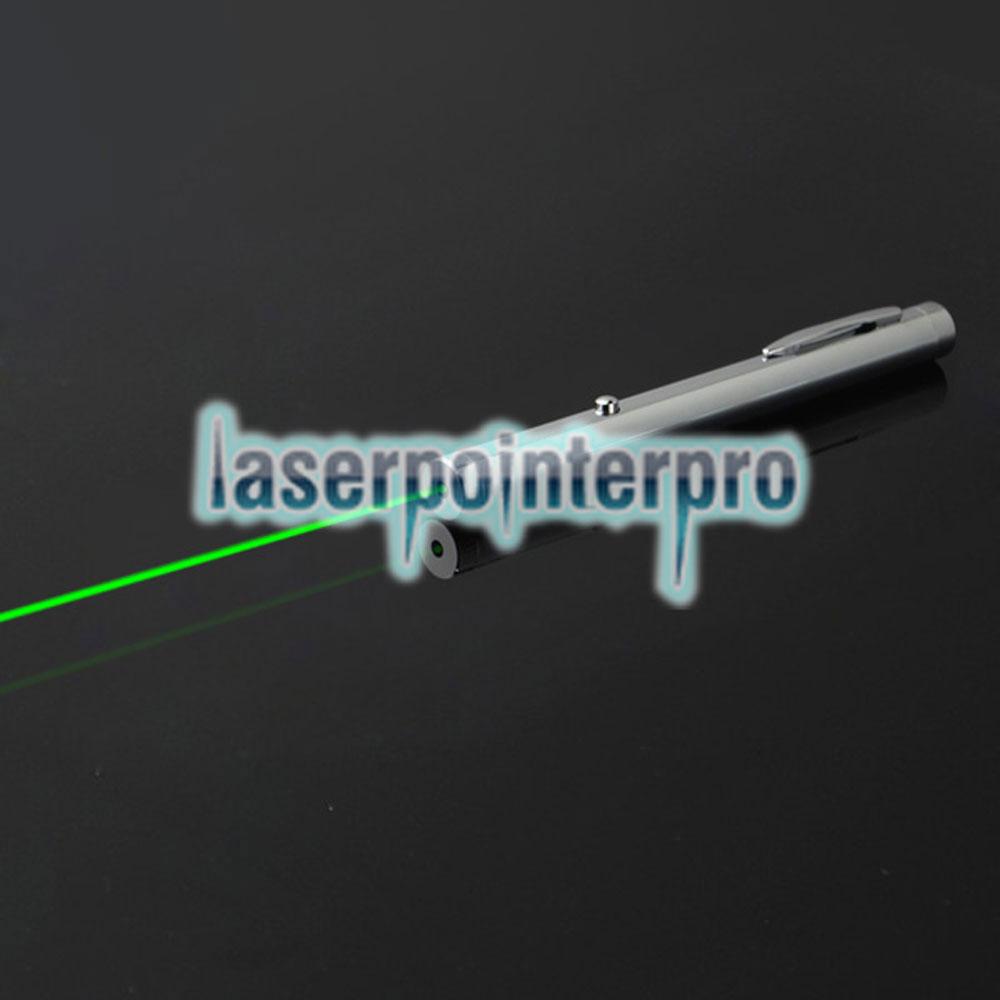 50mW 532nm grüner Lichtstrahl-Licht-Ein-Punkt-Licht-Stil All-Stahl Laserpointer helle Metallfarbe