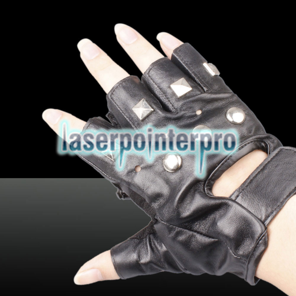 100mw 650nm e 405nm Red & Purple Light Color Redemoinho Estilo Luz recarregável Laser Glove Black Free Size